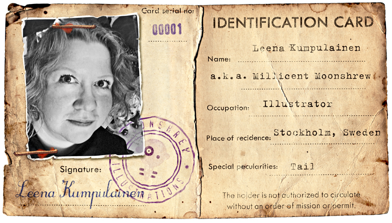 Leena-Kumpulainen-vintage-photo-ID-card-illustration